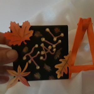 "BeaslePunk Art Original Accents - Fall Fancy - 3D mini 3"" x 3"" canvas seasonal art"